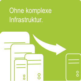 Ohne komplexe Infrastruktur